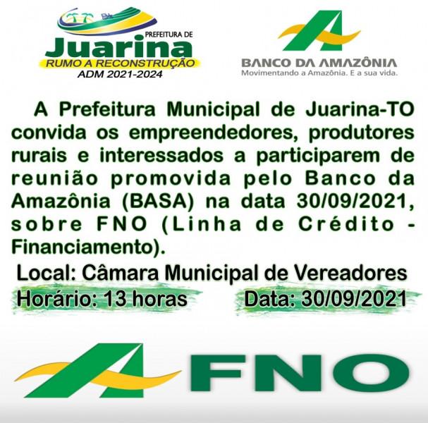 Reunião Promovida Pelo Banco Amazônia, dia 30/09/2021.