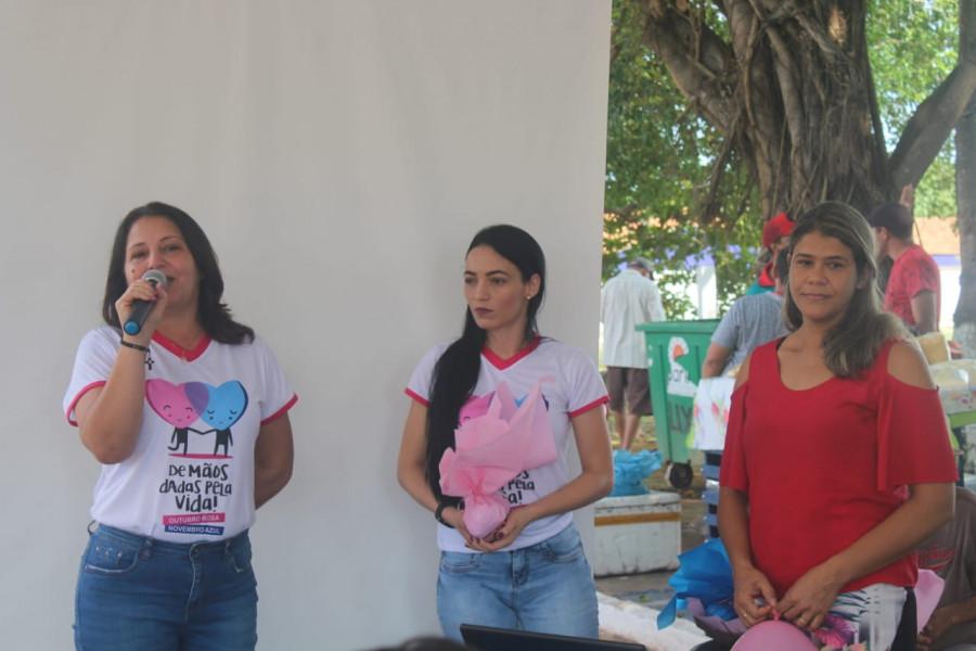 Campanha Outubro Rosa  foi realizada pela Secretaria Municipal de Saúde