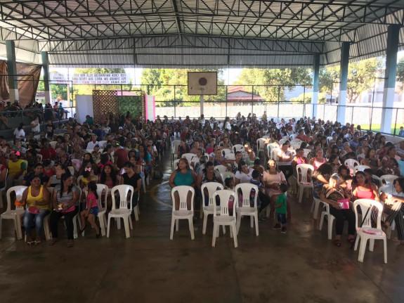 A festa contou com a participação de muitas mães do município.